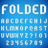 Folded Paper Font