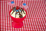 patriotic hot fudge sundae