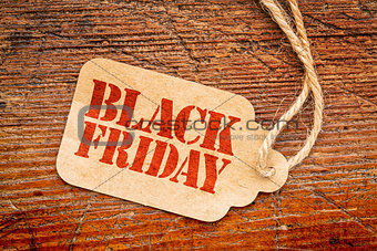 Black Friday sign on price tag