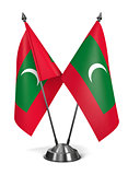Maldives - Miniature Flags.