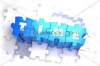Time - White Word on Blue Puzzles.