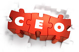 CEO - White Word on Red Puzzles.