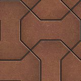Pattern Comprising Polygons Red-Brown.