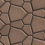 Brown Paving Slabs in the Form Polygons of Different Value.