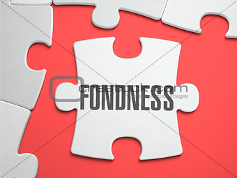 Fondness - Puzzle on the Place of Missing Pieces.