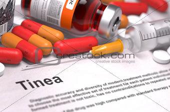 Tinea Diagnosis. Medical Concept.