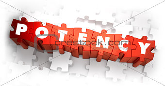 Potency - White Word on Red Puzzles.