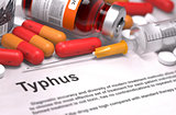Diagnosis - Typhus. Medical Concept.