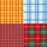 Set seamless texture plaid