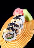 Maki sushi with sesame