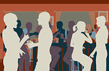 Pub crowd