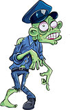 Cartoon policeman zombie