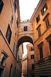 The narrow streets of Rome