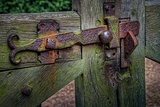 Rusty old gate latch