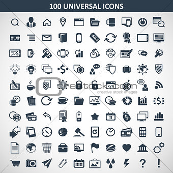 100 media icons