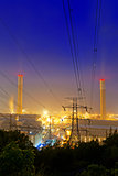 Power station at night