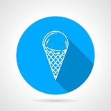 Line vector icon for ice cream