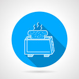 Line vector icon for toaster