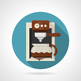 Flat color vector icon for coffee machine