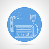 VHF transmitter blue round vector icon