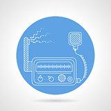 VHF transmitter blue round vector icon