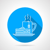 Line vector icon for tea party
