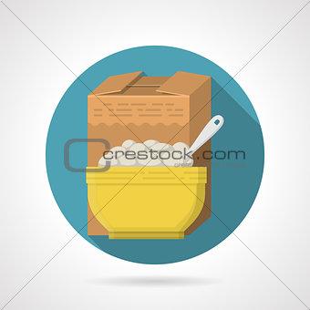 Flat color vector icon for porridge