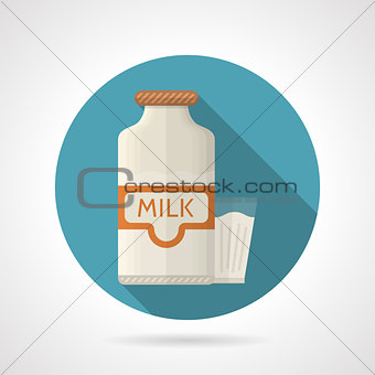 Flat color vector icon for dairy
