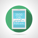 Flat color vector icon for app calorie counter