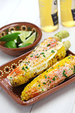 mexican grilled corn dish, elote