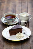 homemade sachertorte, Austrian chocolate cake