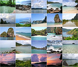 Collage of beautiful Thailand
