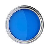 Blue paint top view