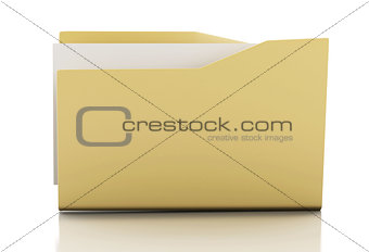 3d Yellow folder