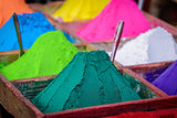Colorful powders in Kathmandu