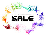 Sale triangle background