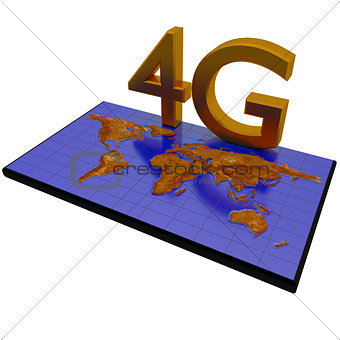 4G network on world map