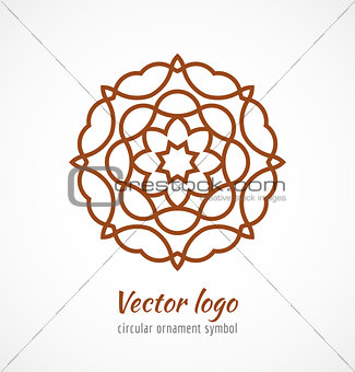 Abstract red outline ornament symbol logo