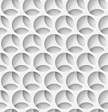 White paper seamless circle background