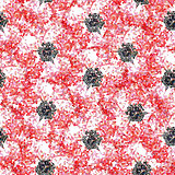 Seamless pattern with abstract bright flowers. Vector, EPS 10