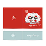 Couple in love together, christmas card for your design