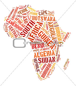 Africa map graphic illustration