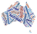 Australia map graphic illustration