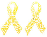 Yellow ribbon for support soldier campaign