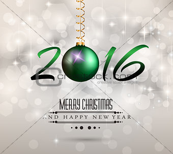 2016 Merry Chrstmas and Happy New Year Background for your dinner invitations