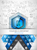 Infographic Abstract template with 4 choices glass buttons