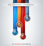 Infographics modern template to classify data and informations