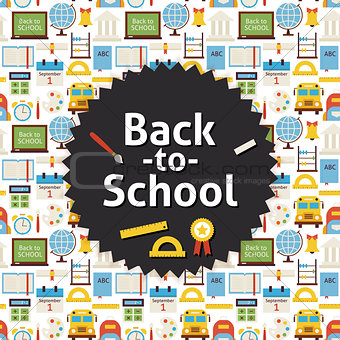 Flat Vector Back to School Background