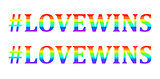 Vector Love wins words in rainbow colors