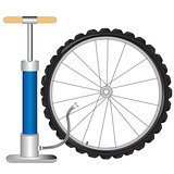 Manual pump and wheel